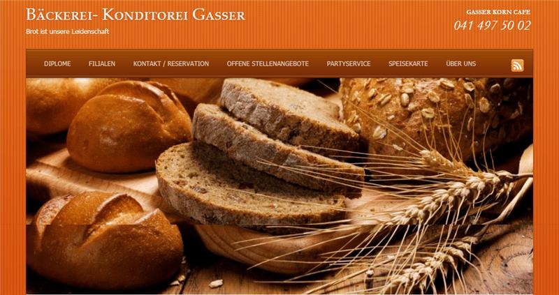 bäckerei konditorei gassers brot ist unsere leidenschaft
