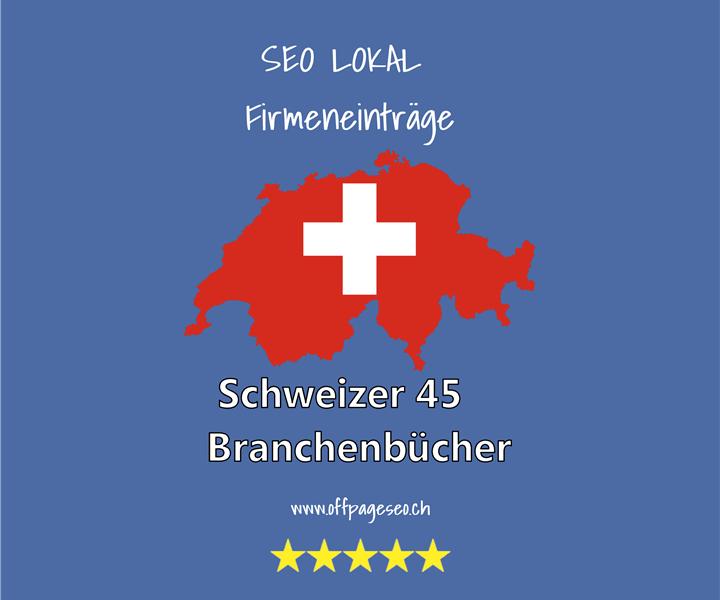 Schweizer  Branchenbuecher Firmeneintraege bestellen offpageseo schweiz